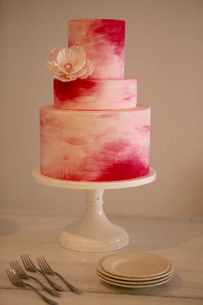 Brides-to-be can order artful wedding cakes through the shop.