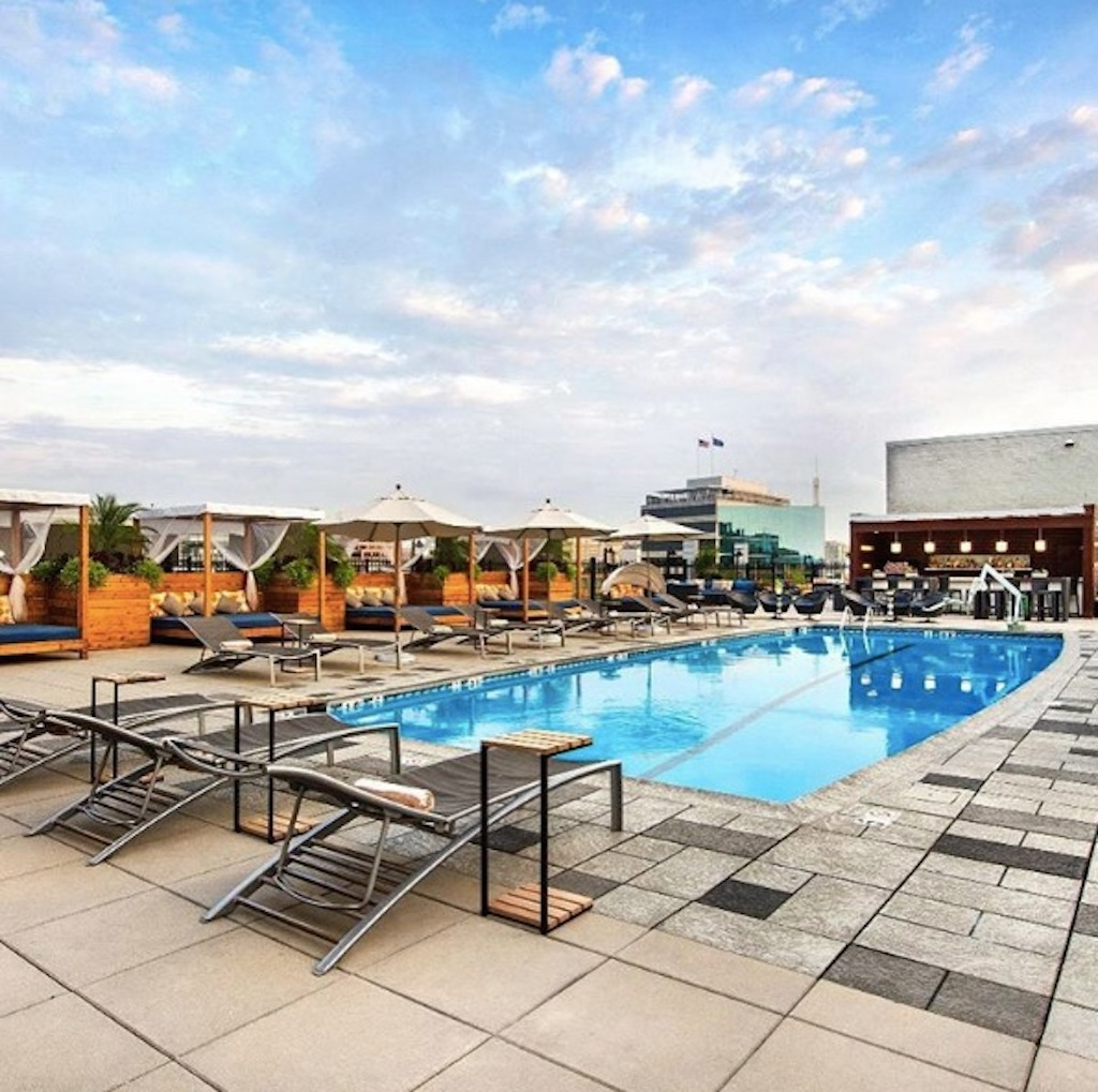 Rooftop Pool Bar : The Liaisons Revamped Rooftop Pool Bar Opens Thursday  Washingtonian