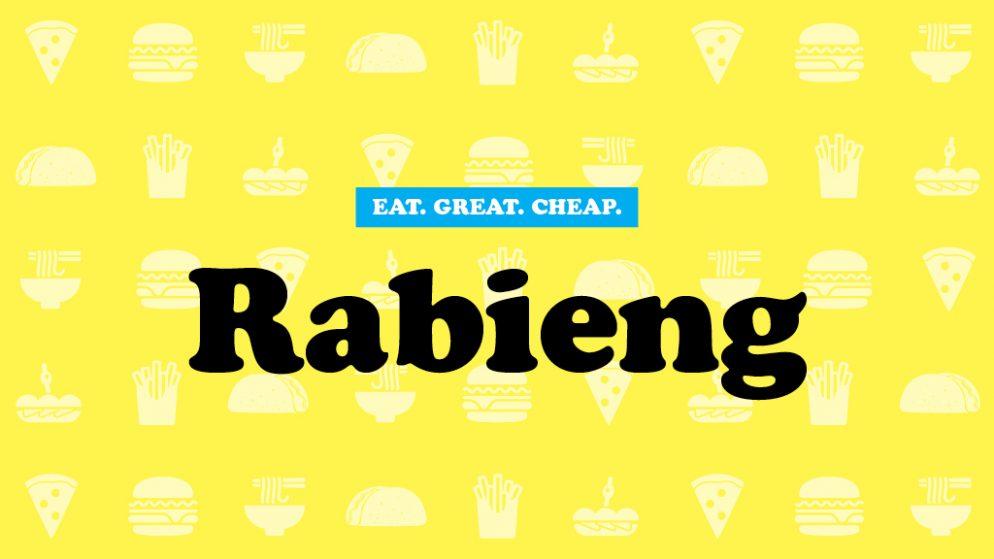 Cheap Eats 2016: Rabieng