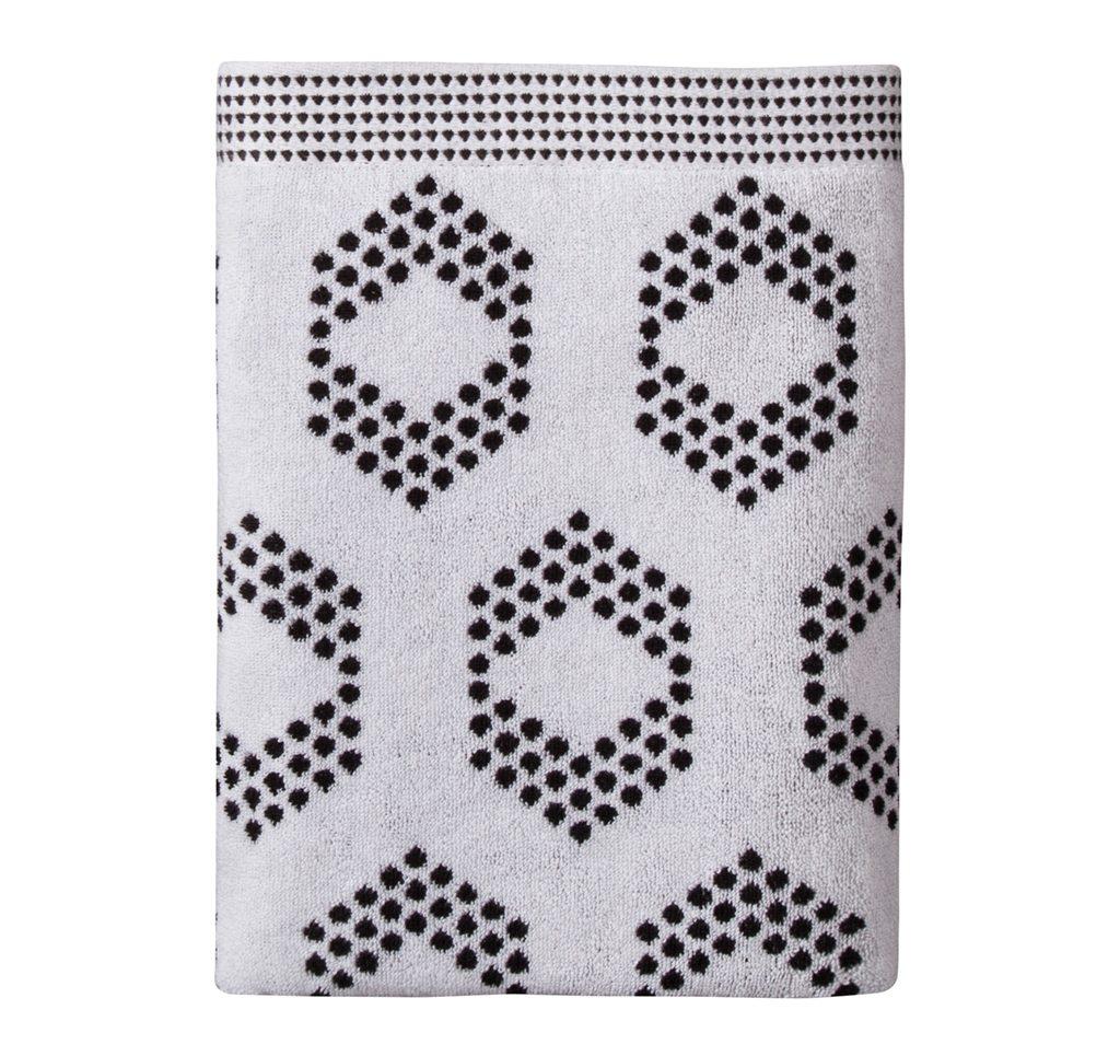 bathroom decor accessories Target-nate-berkus-galaxy-black-diamond-dot-bath-towel