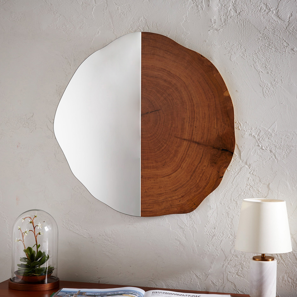bathroom decor accessories West-Elm-tree-ring-mirror