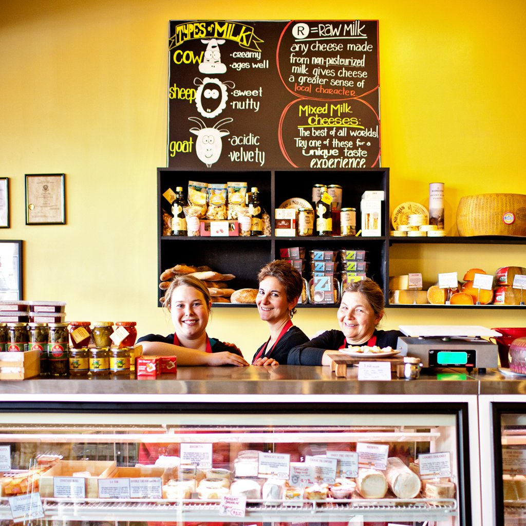 Cheap Restaurants in Arlington. Cheesemongers (left to right) Molly Simpson, Amy Oleinick, and Robin Phillips. Photograph by Scott Suchman.
