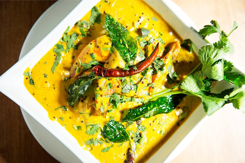 Cheap Restaurants Silver Spring: Shrimp moilee at Jewel of India. Photograph by Scott Suchman.