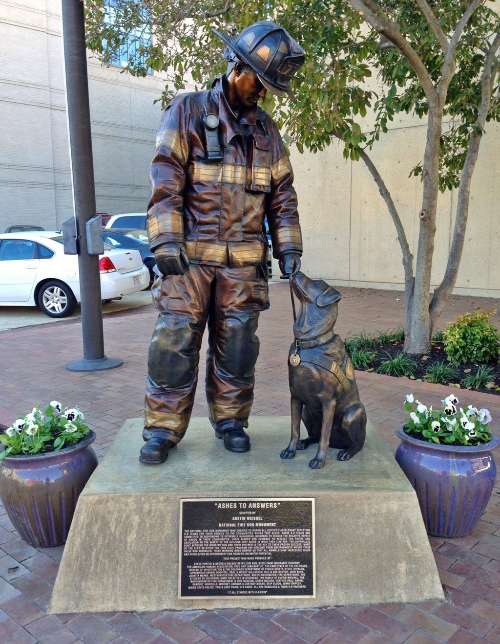 DC Memorials. National Fire Dog Monument.