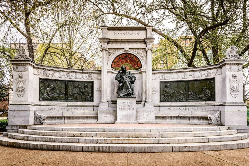 DC Memorials. The Samuel Hahnemann statue near Scott Circle. Photograph by Mark Summerfield/Alamy.