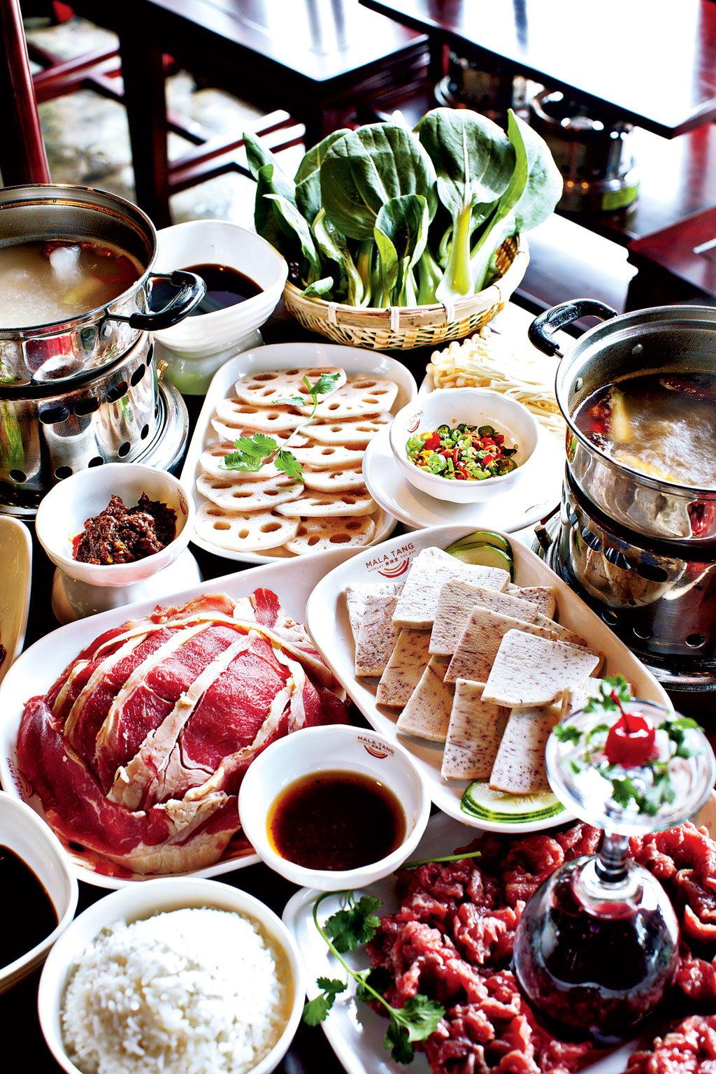 Cheap Restaurants Large Groups. Szechuan Hot Pot at Mala Tang. Photograph by Scott Suchman.
