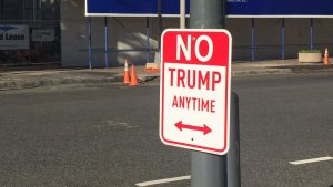 "New DC Street Signs Read ""No Trump Anytime"""
