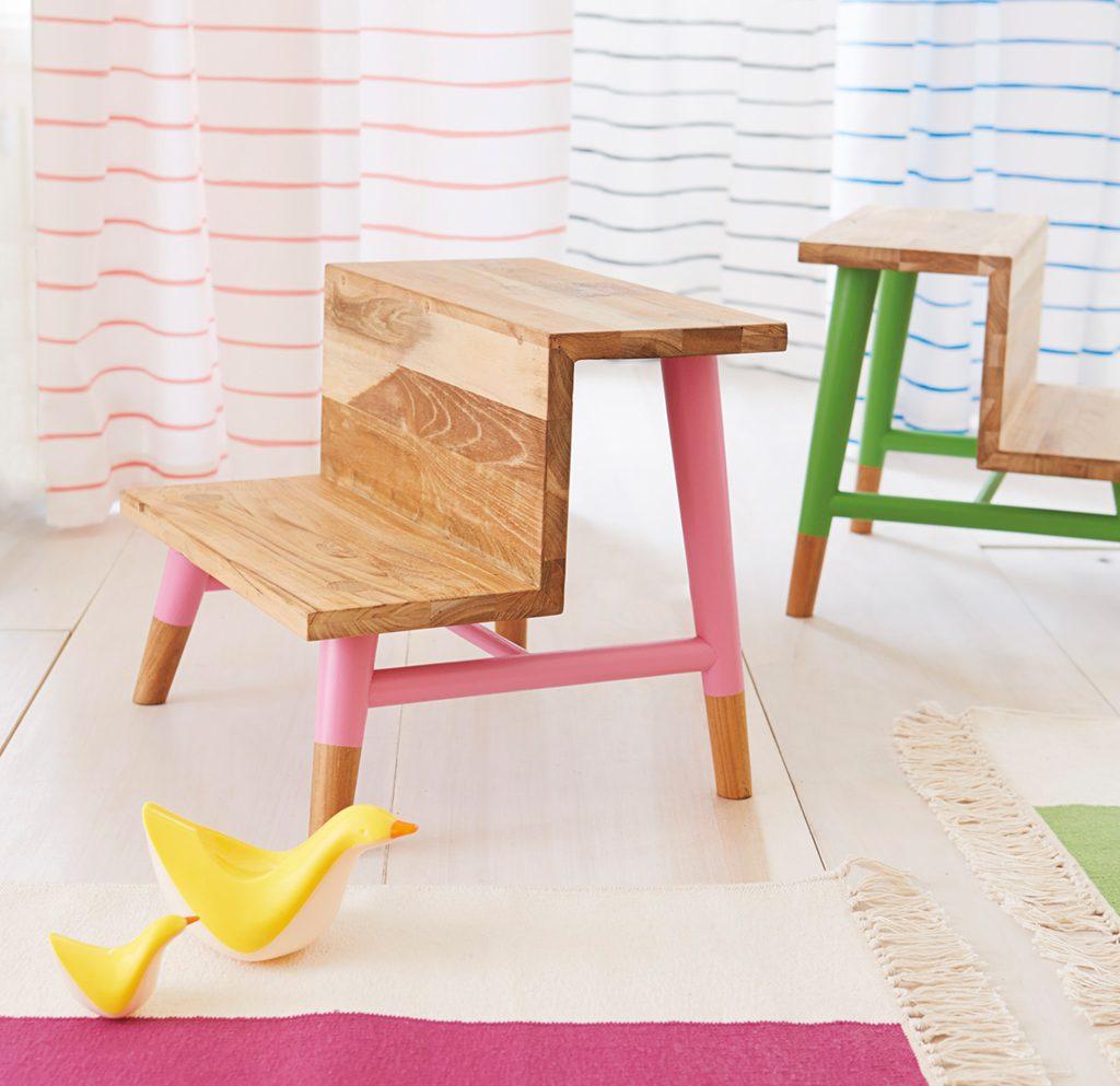 bathroom decor accessories serena-lily-teak-step-stool