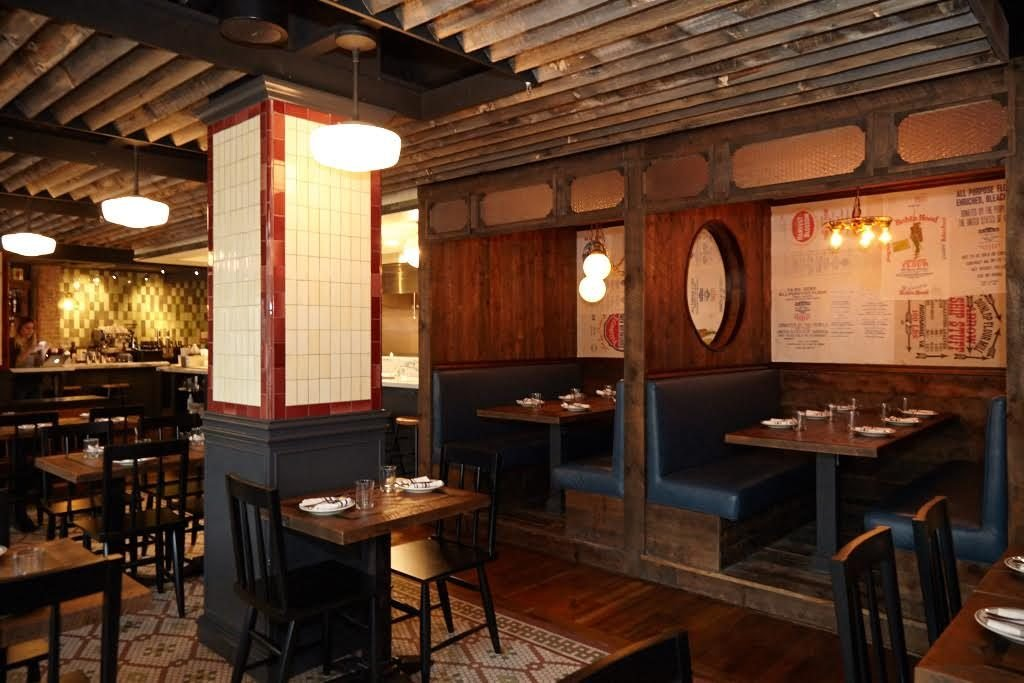 The Shaw space was inspired by old-school Italian-American restaurants.