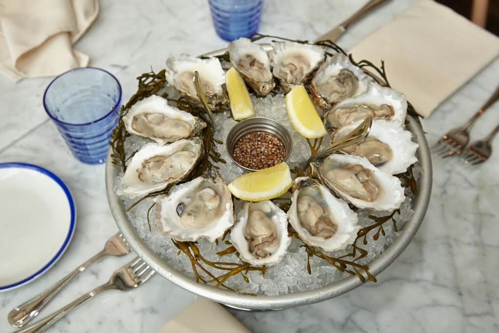 Local oysters star, including a number of bivalves from Virginia and Maryland.