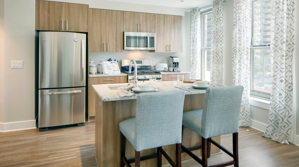 "Kitchens in the units have a ""West Elm-inspired"" design, Vornado says."