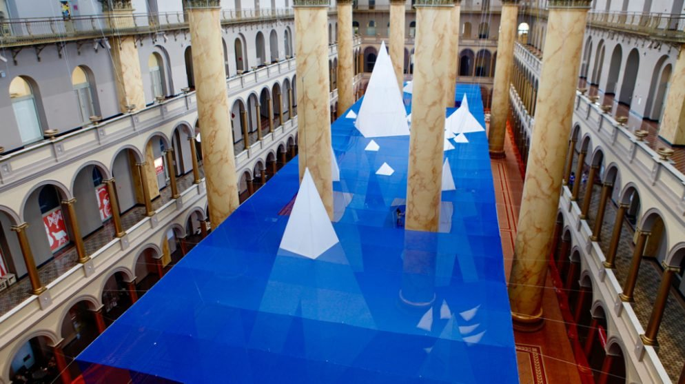 Watch This Time Lapse Video of How the National Building Museum's ICEBERGS Was Built