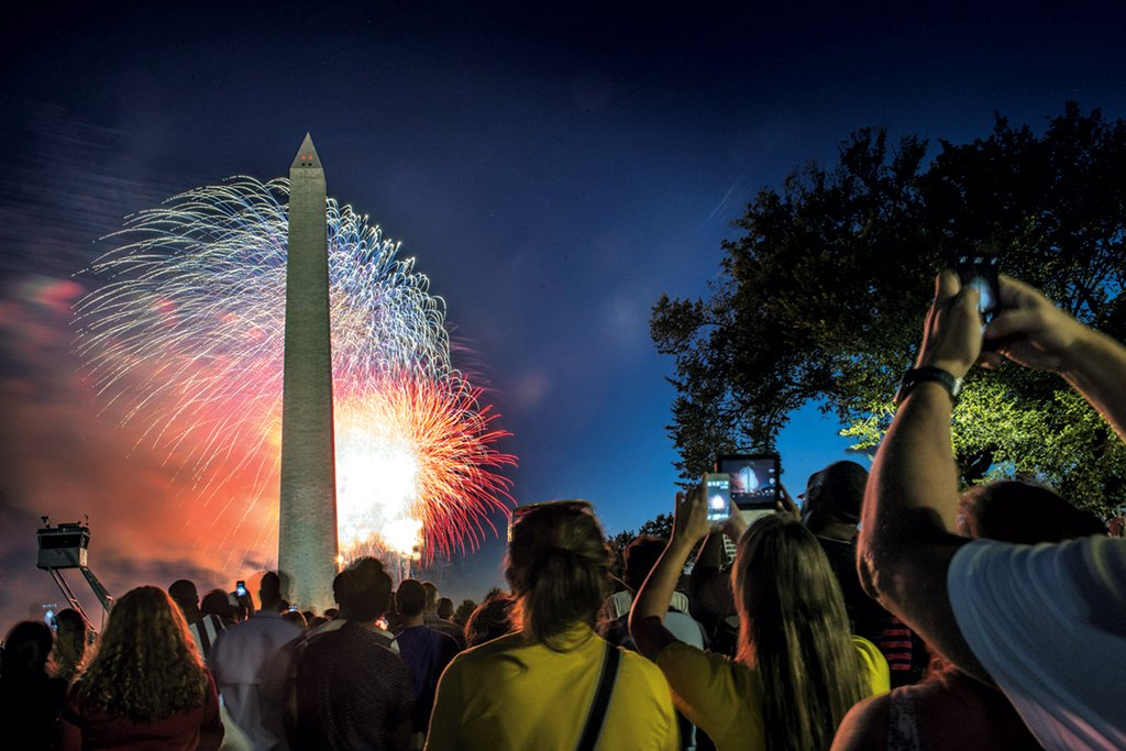 fourth of july fireworks Photograph by Bill O'Leary/The Washington Post via Getty Images.