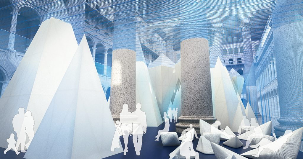 One of the exhibits you don't want to miss: the National Building Museum's ICEBERGS. (July 2016/Chesapeake Bay)