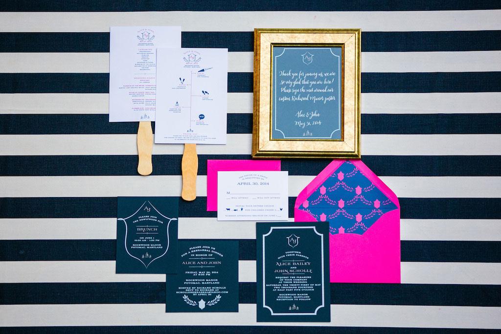 6-16-16-navy-blue-hot-pink-preppy-maryland-wedding-1