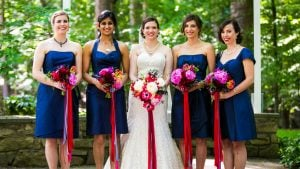 """You'll Love the Cheerful Twist on """"Something Blue"""" in this Maryland Wedding"""