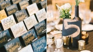 See How Modern Lettering Turns One DC Wedding From Totally Classic to Totally Cool