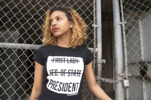 These Clinton Couture T-Shirts Are Designed to Get Hillary in the White House–and Spread the Lady Power Message