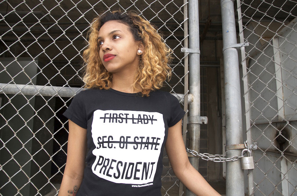 5b7f6b7db These Clinton Couture T-Shirts Are Designed to Get Hillary in the White  House–and Spread the Lady Power Message