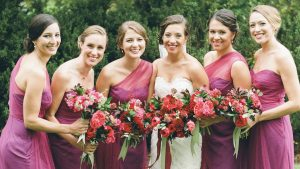 A Hurricane Couldn't Stop This Romantic Red Wedding From Delivering on the Pretty