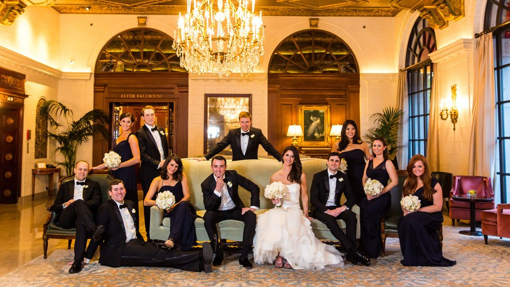You've Got to See the Flowers at This Glam Gold and Navy St. Regis Wedding