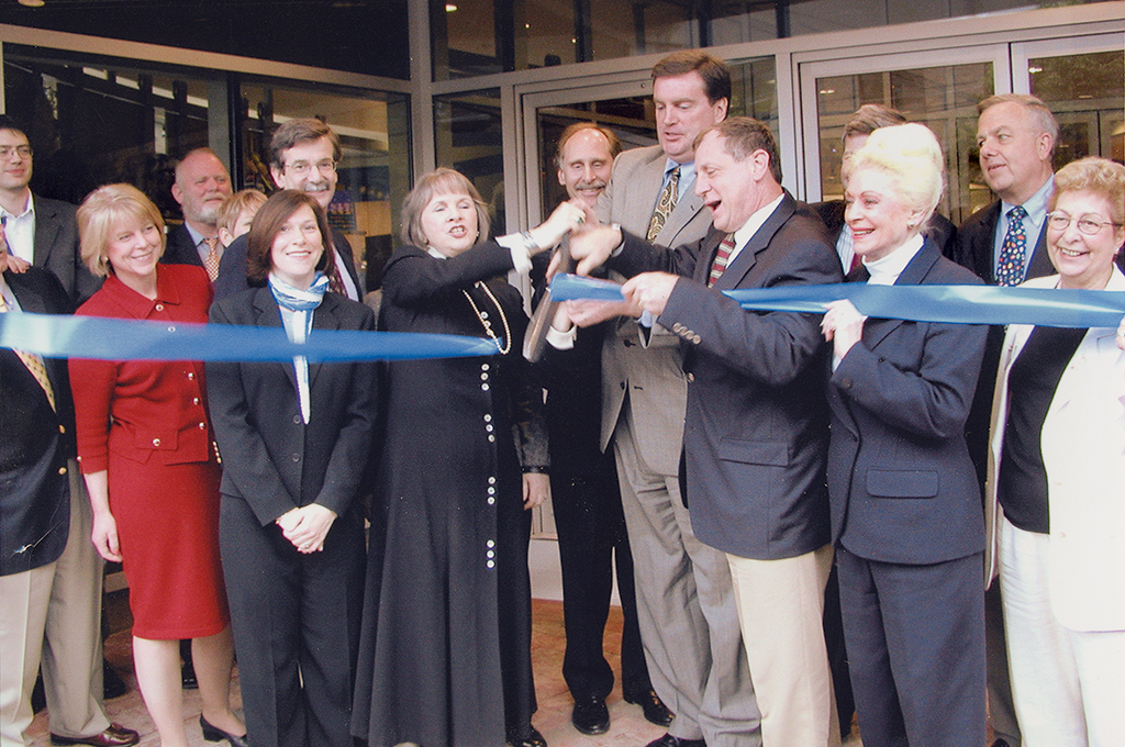 Celebrating the theater company's move to Bethesda's Auburn Avenue in 2003. Photograph courtesy of Bonnie Fogel.