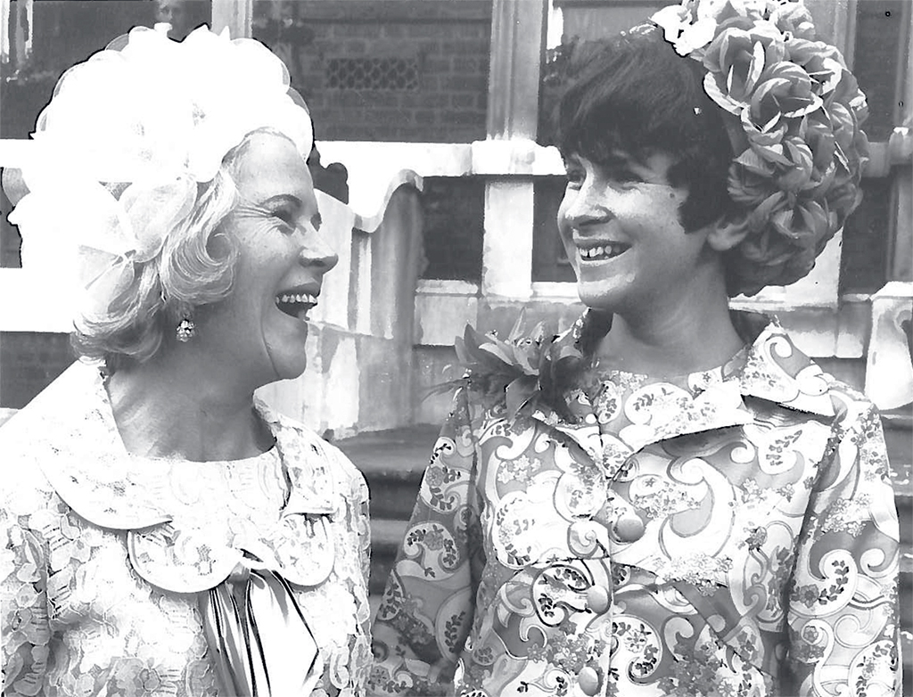 Fogel (right) and her mother, Joyce, in London on Bonnie's wedding day. Photograph courtesy of Bonnie Fogel.