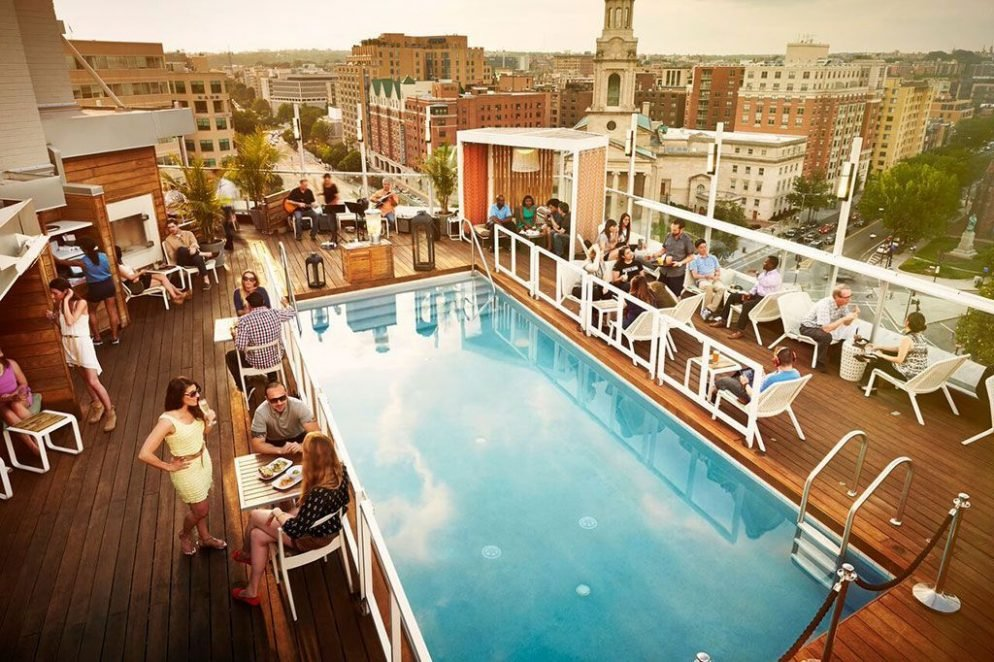 This map of all the dc area rooftop bars will make you want to drink outside Red house hotel swimming pool