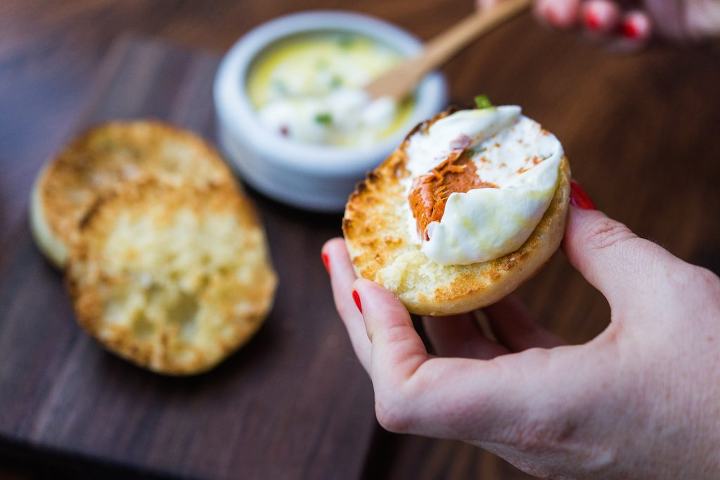 "Dishes on the menu are ""appetizer-plus"" size, like homemade English muffins with spreadable nduja and yoghurt."