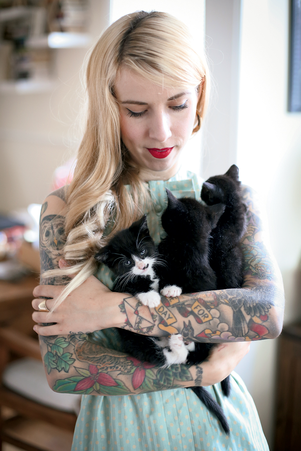 The Kitten Lady: On Instagram–where she has more than 100,000 followers–Shaw is @kittenxlady.