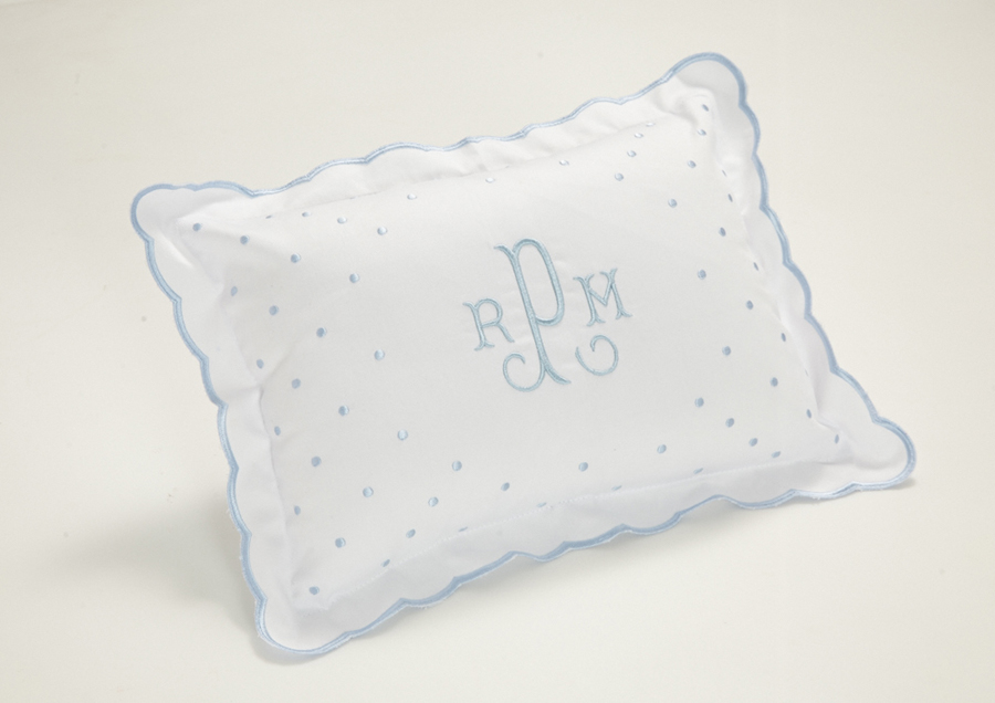 Monogram Baby Pillow, at Del Ray Monograms