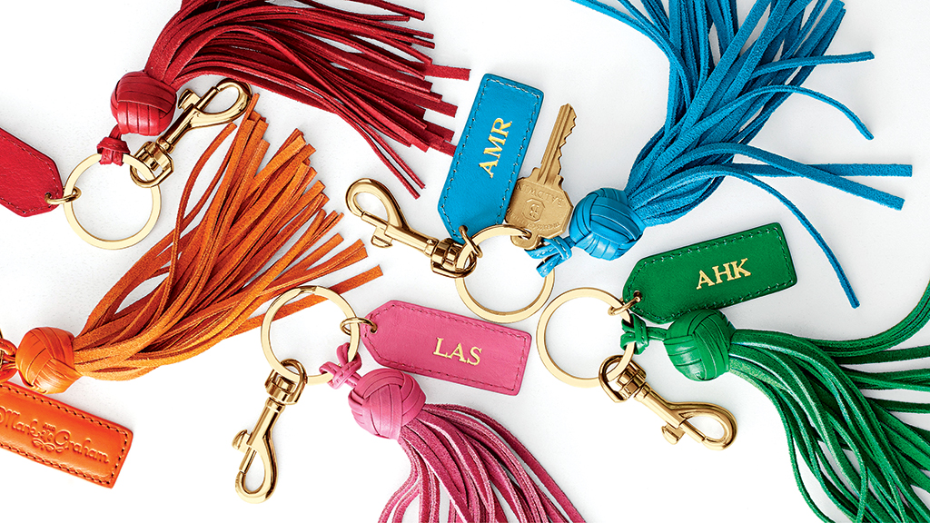 Mark & Graham key chains ($49) are great gifts.