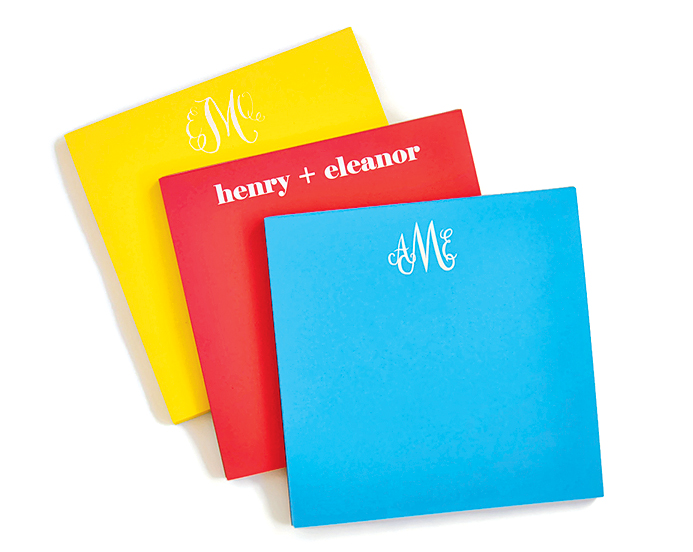 Personalized notepads, $25 each at Haute Papier.