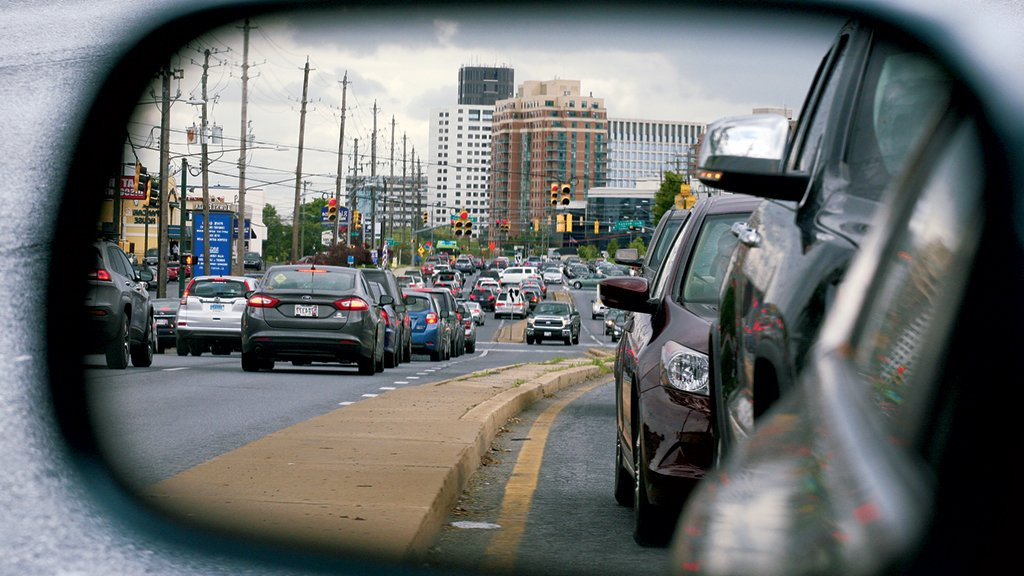 Can Rockville turn its strip into a Champs-Élysées? Not with a plan making it wider than I-270. Photograph by Evy Mages.