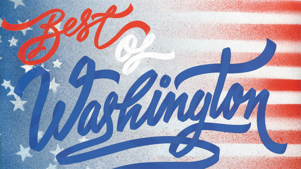 Best of Washington, Typography by I Love Dust; flag pattern by Brian Kaspr.