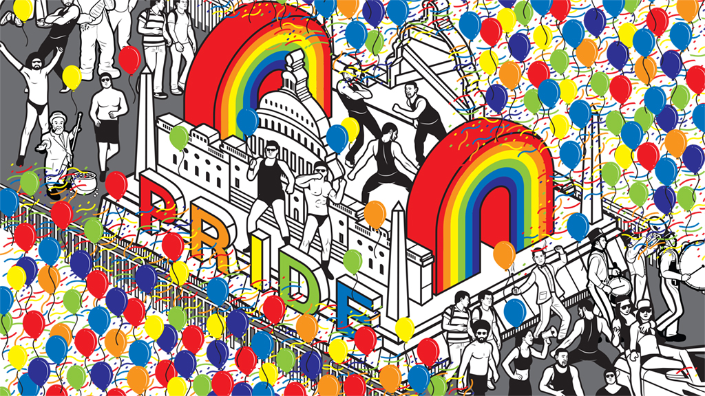 Capital Pride Festival. Illustration by T.M. Detwiler.