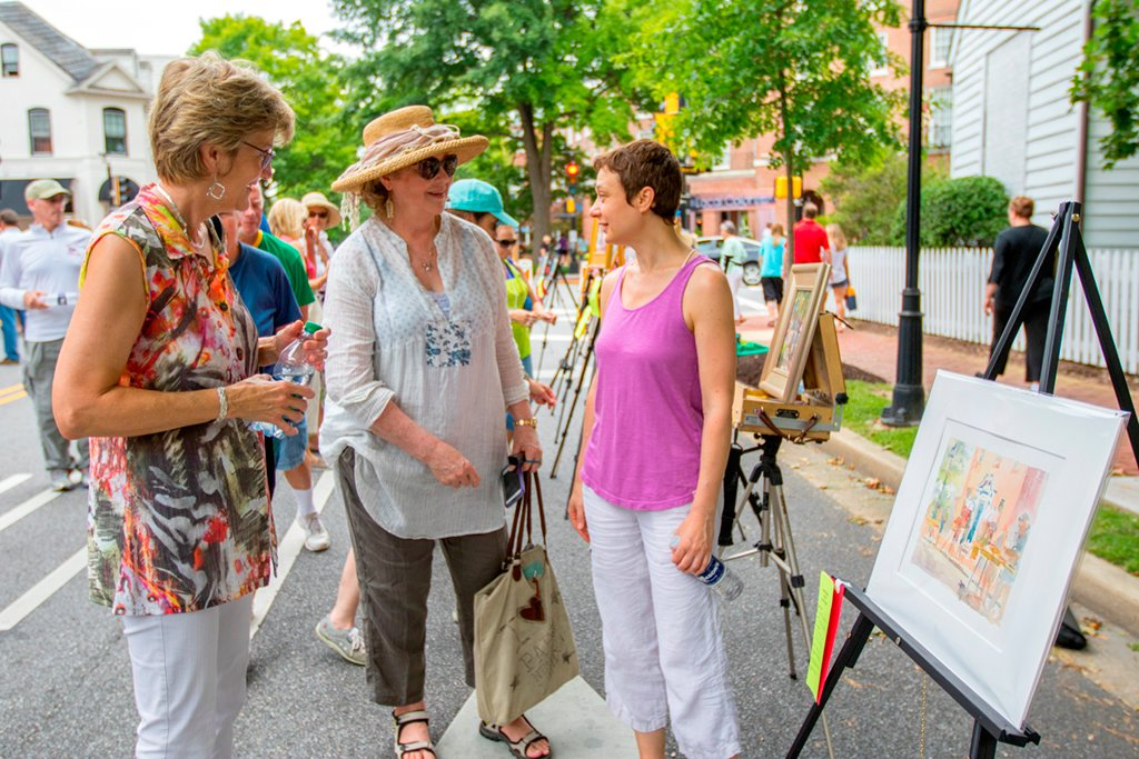 Easton's Plein Air festival. Photograph by Mark Sandlin.