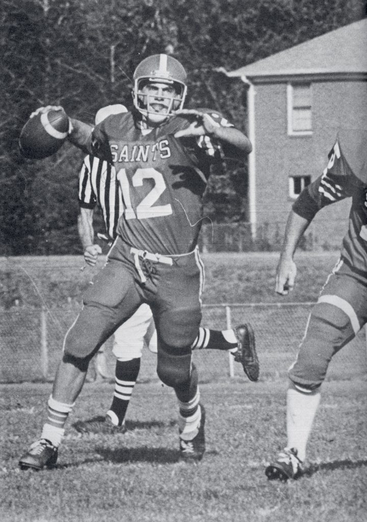 "Meloni, shown is his senior year, recalls ""every game vivdly."" Photograph courtesy of St. Stephen's & St. Agnes School."