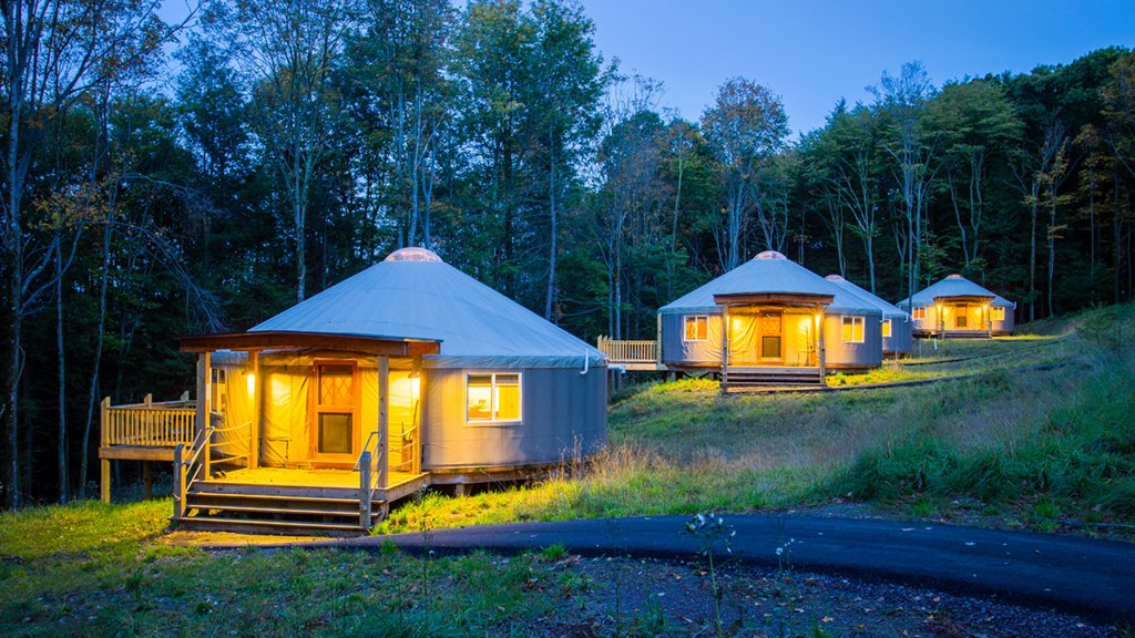 "DC-Area Camping: Don't like roughing it? Try ""glamping"" in a yurt at Savage River Lodge. Photograph by Jennifer Dobson."
