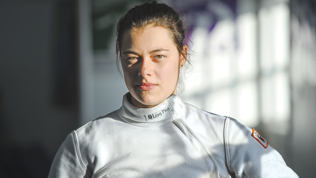 DC Olympic Athletes: Root for Katharine Holmes, the third-ranked women's fencer in the US and graduate of the National Cathedral School, during the Summer Games. Photograph by Jonathan Newton/Washington Post/Getty Images.