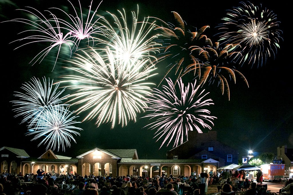 Workhouse Arts Center fireworks. Photograph courtesy of Workhouse Arts Center.