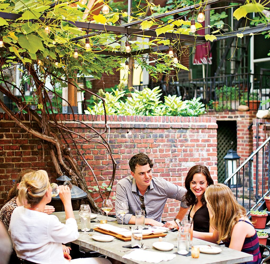 Iron Gate's outdoor patio is hard to beat. Photograph by Scott Suchman.