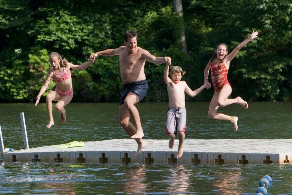 jumping lake