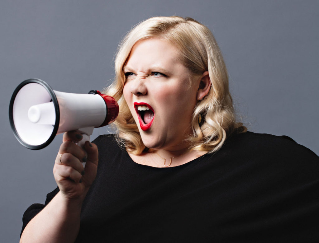 Feminist, writer, and fat acceptance movement activist Lindy West reads from her essay collection Shrill at Kramerbooks Tuesday.