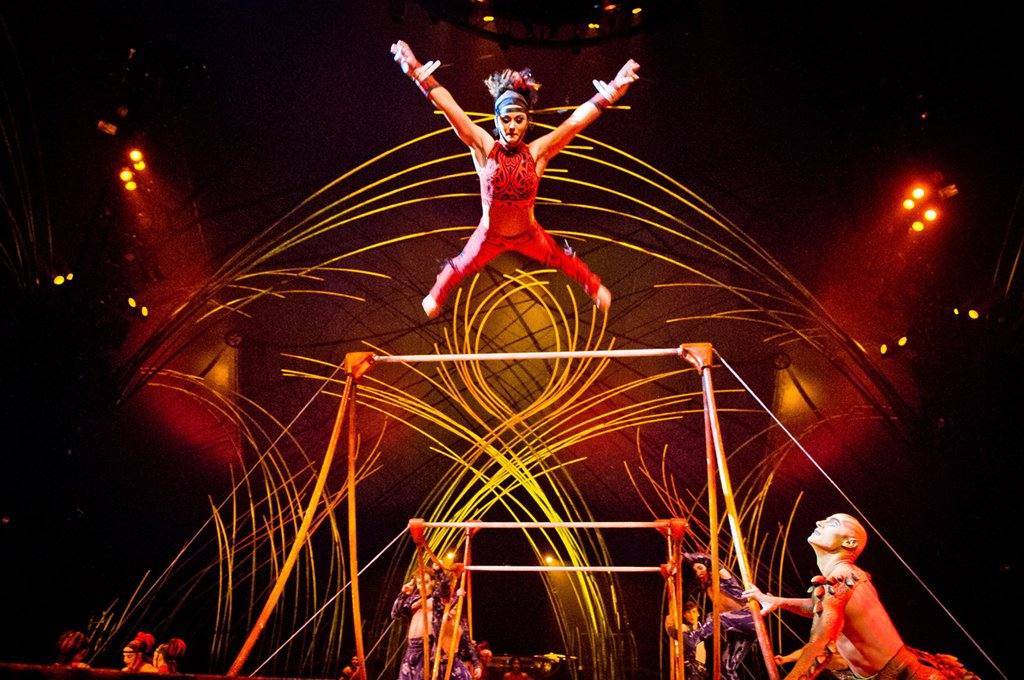 Cirque du Soleil uses Old Montreal as a launching ground for its latest shows. Photograph by Charles William Pelletier/Cirque du Soleil.