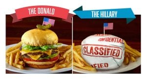 Trump vs. Clinton Burgers Arrive at Del Frisco's Grille DC
