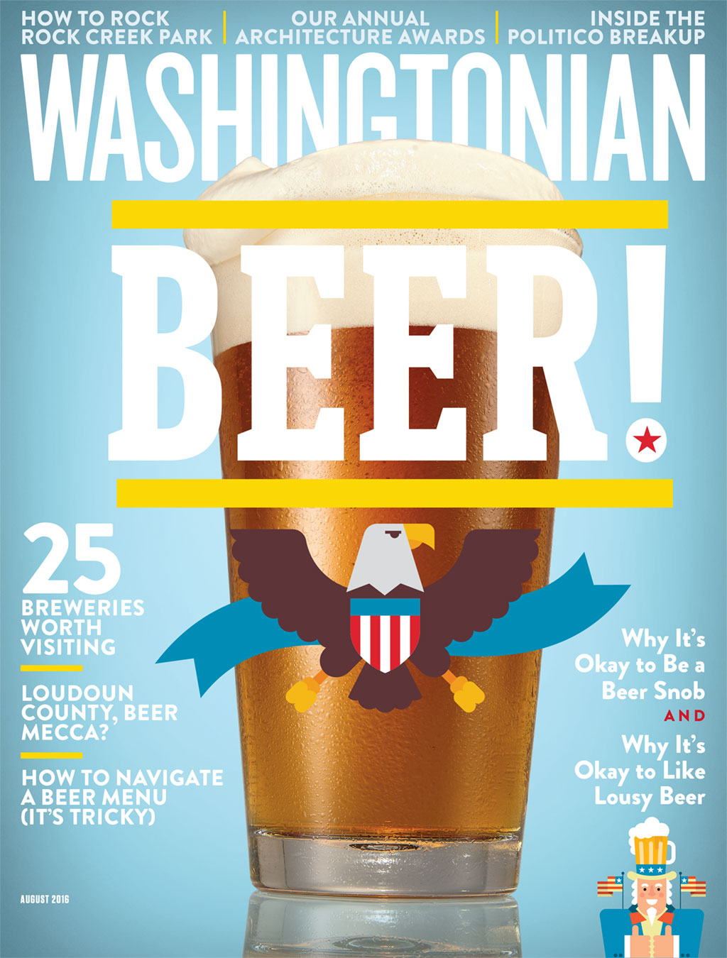 DC Beer. Photograph by Jeff Elkins. Illustrations by Mikey Burton.