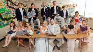 The Reason This Maryland Couple Posed for Wedding Pics in a Classroom is Just Too Cute