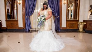 We're All About This Maryland Bride's Two Fierce Wedding Day Looks
