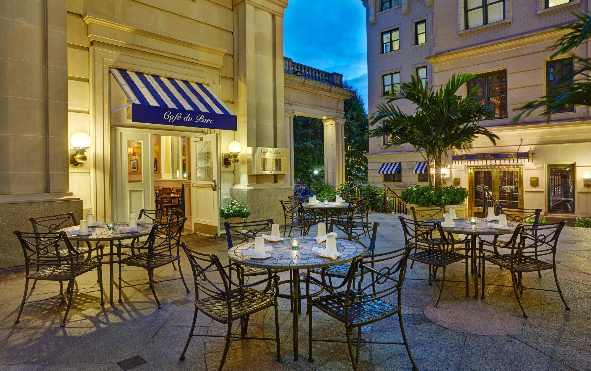 The terrace at Café du Parc. Photo courtesy of the restaurant.